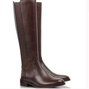 Tory Burch Christy Leather Riding Boots Brown Sz 6